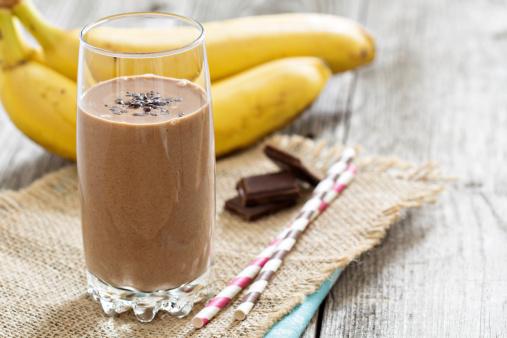 Chocolate Banana Protein Smoothie